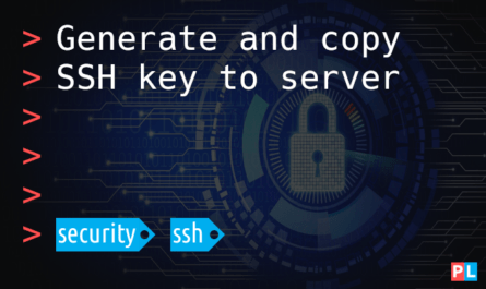 Feature image for article generate and copy SSH key to server