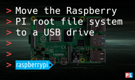 Feature image for the article about moving the Raspberry PI root file system to a USB drive