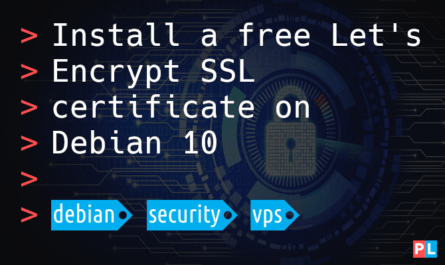 Feature image for the article about how to install a free Let's Encrypt SSL certificate on Debian 10