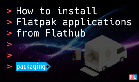 Feature image for the article about how to install Flatpak applications from Flathub