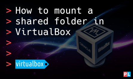 Feature image for the article about how to mount a shared folder in VirtualBox