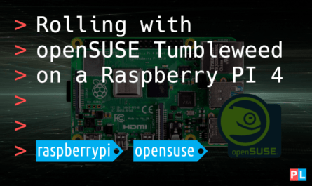 Feature image for the article about installing openSUSE Tumbleweed on a Raspberry PI 4