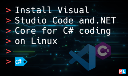 Feature image for the article about how to install Visual Studio Code and .NET Core for C# coding on Linux