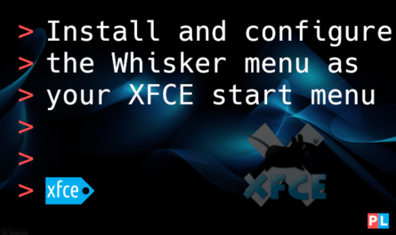 Feature image for the article about how to install and configure the Whisker menu as your XFCE start menu