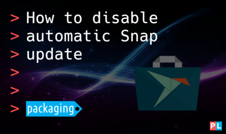 Feature image for the article about how to disable Snap update