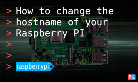 Feature image for the article about how to change the hostname of your Raspberry PI
