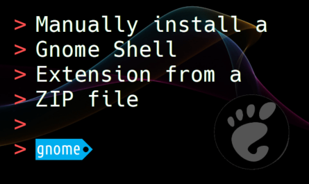 Feature image for the article about how to manually install a Gnome Shell Extension from a ZIP file