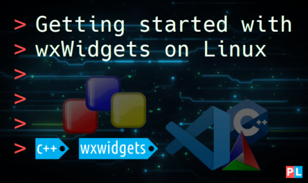 Feature image for the article about getting started with wxWidgets on Linux