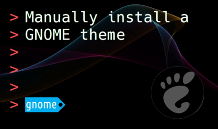 Feature image for the article about how to manually install a GNOME theme