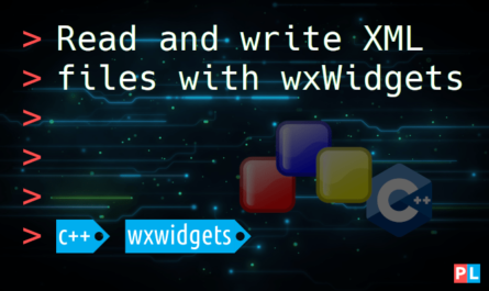 Feature image for the article about how to read and write XML files with wxWidgets